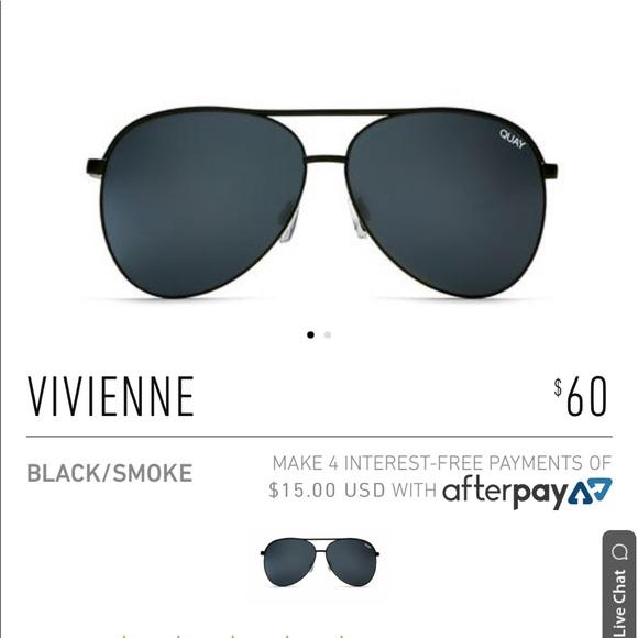 Quay Australia Accessories - Quay Vivienne Black Aviators
